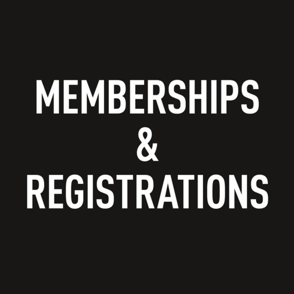Memberships & Registrations